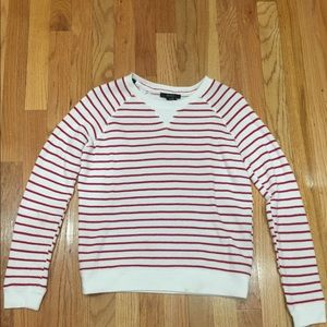 Forever 21 white with red stripe sweater